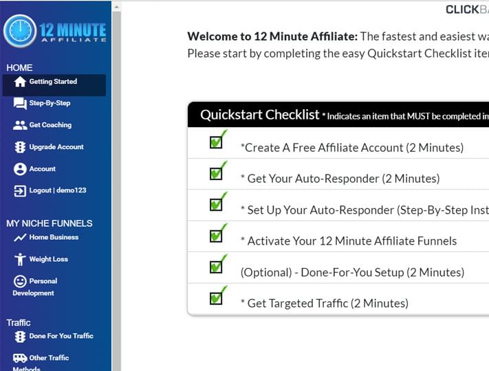 Do you have what it takes to be a 12 Minute Affiliate? How to make the most money with Affiliate Marketing.  How to make money online. How to make money fast.